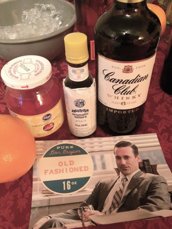 don draper old fashioned mad men party food