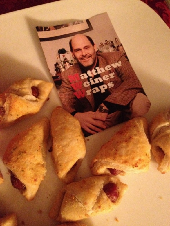 matthew weiner wraps mad men party food