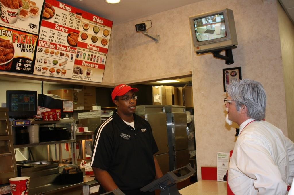 Colonel ordering chicken