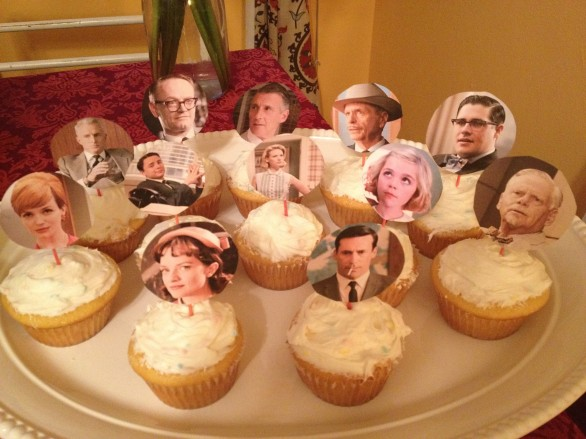 mad men cupcakes party food